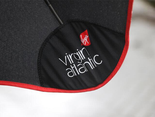 Брендирование зонтов Blunt virgin atlantic