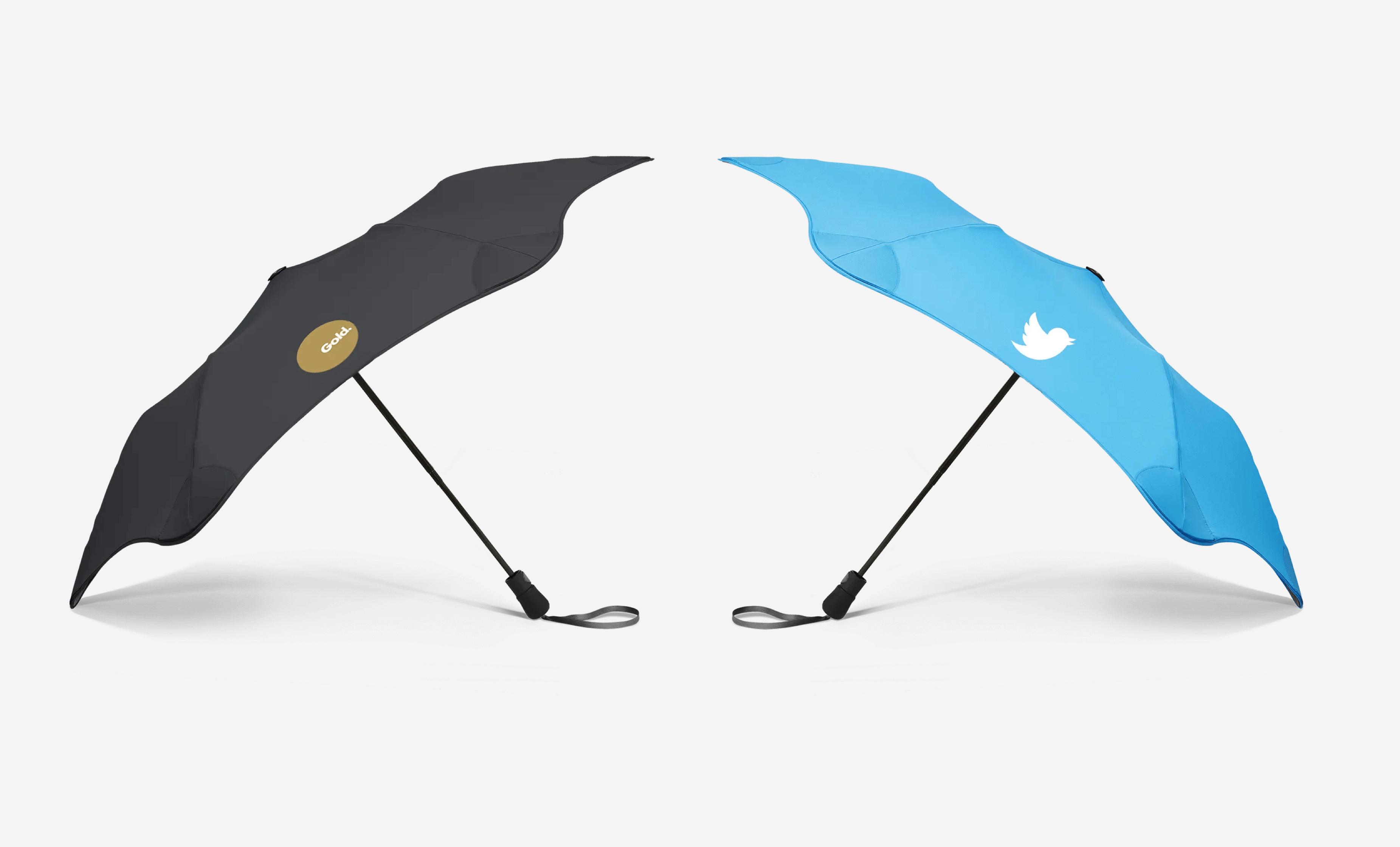 Брендирование зонтов Blunt twitter